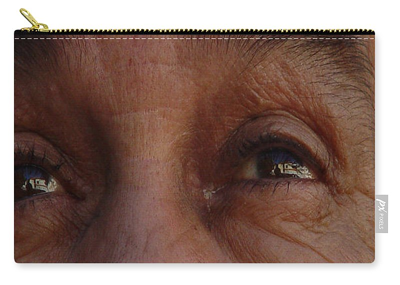 Eyes Carry-all Pouch featuring the photograph Burned Eyes by Peter Piatt