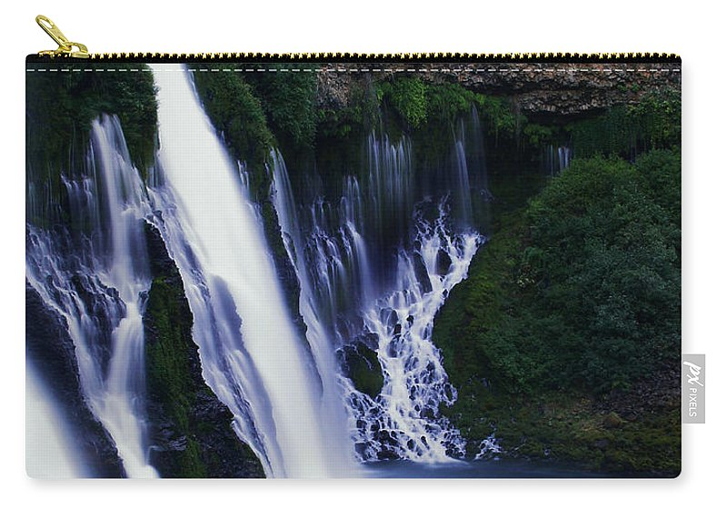 River Carry-all Pouch featuring the photograph Burney Blues by Peter Piatt