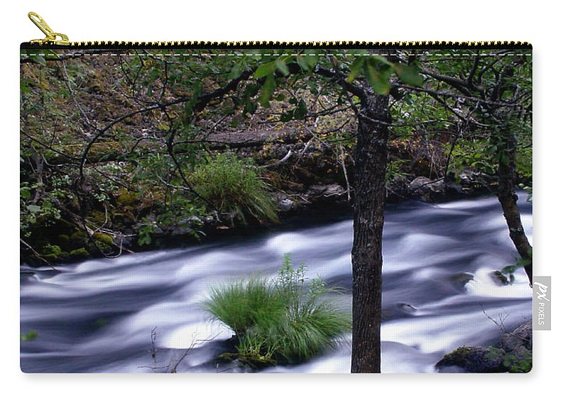 River Carry-all Pouch featuring the photograph Burney Creek by Peter Piatt