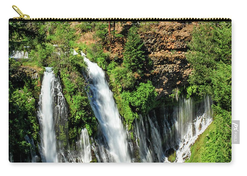 Landscape Carry-all Pouch featuring the photograph Burney Falls by James Eddy