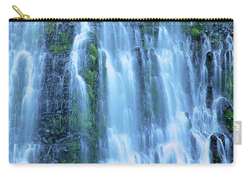 Burney Falls Carry-all Pouch featuring the photograph Burney Falls Mist Mcarthur Burney Sp California by Dave Welling