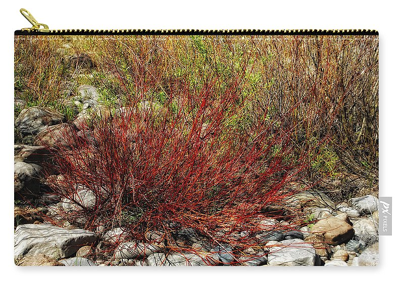 Willow Bush Carry-all Pouch featuring the photograph Burning Bush by Donna Blackhall