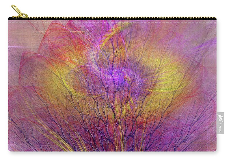 Burning Bush Carry-all Pouch featuring the digital art Burning Bush by John Beck