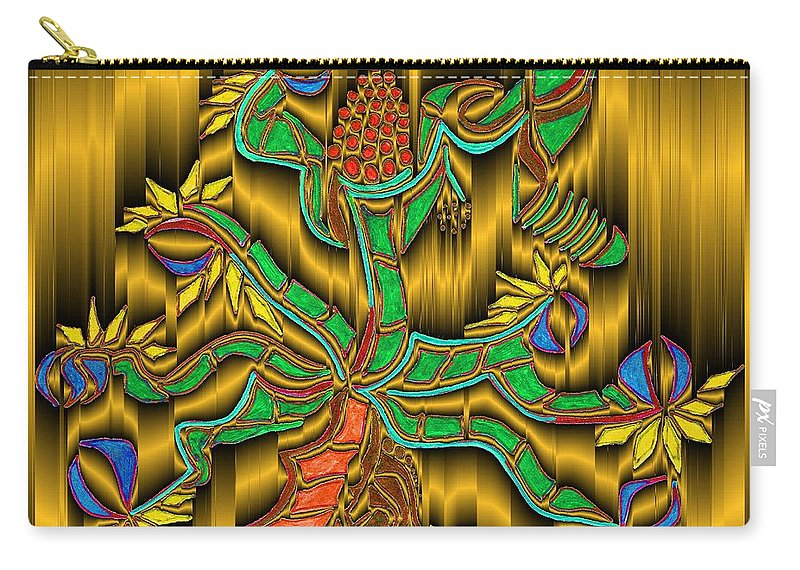 Digital Carry-all Pouch featuring the digital art Burning Bush by Mark Sellers