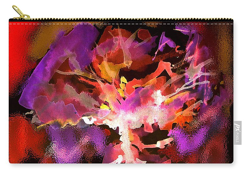 Bible Carry-all Pouch featuring the digital art Burning Bush by Seth Weaver