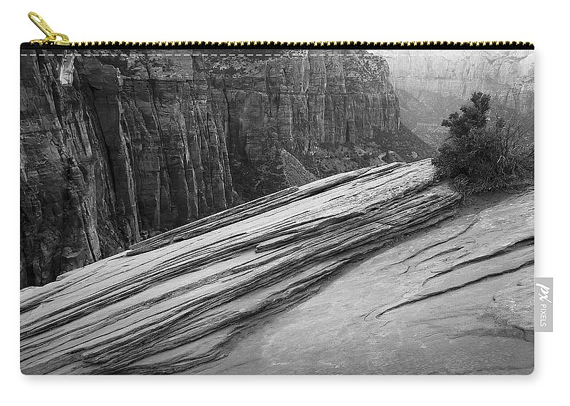 Burning Bush Carry-all Pouch featuring the photograph Burning Bush by Skip Hunt