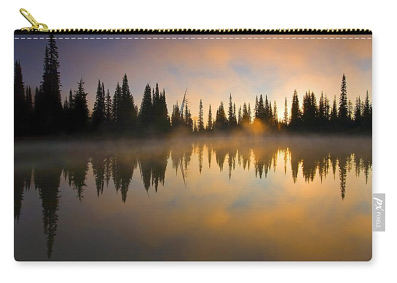 Lake Carry-all Pouch featuring the photograph Burning Dawn by Mike Dawson