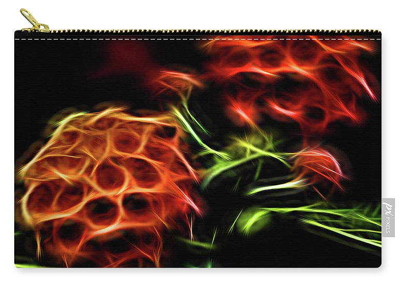 Flower Carry-all Pouch featuring the photograph Burning Flower by Carolyn Truchon