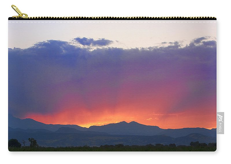 Sunsets Carry-all Pouch featuring the photograph Burning Rays Of Sunset by James BO Insogna