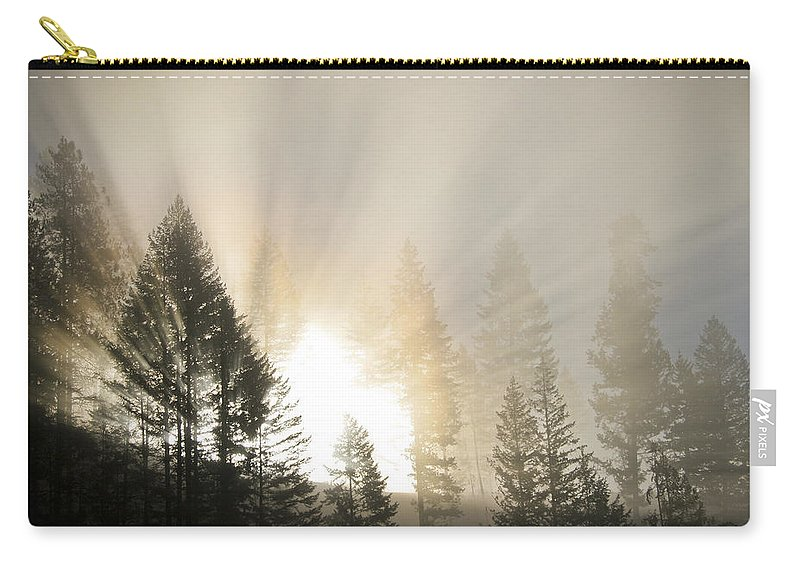 Fog Carry-all Pouch featuring the photograph Burning Through The Fog by Albert Seger