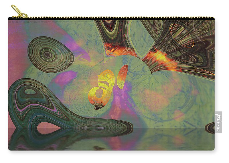 Abstract Carry-all Pouch featuring the digital art Burnth by Richard Thomas