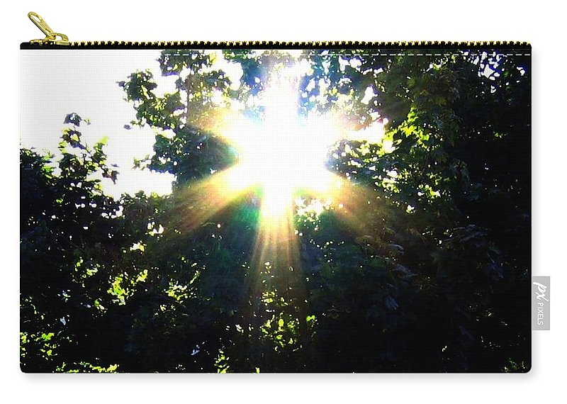 Sunburst Carry-all Pouch featuring the photograph Burst Of Sunlight by Will Borden