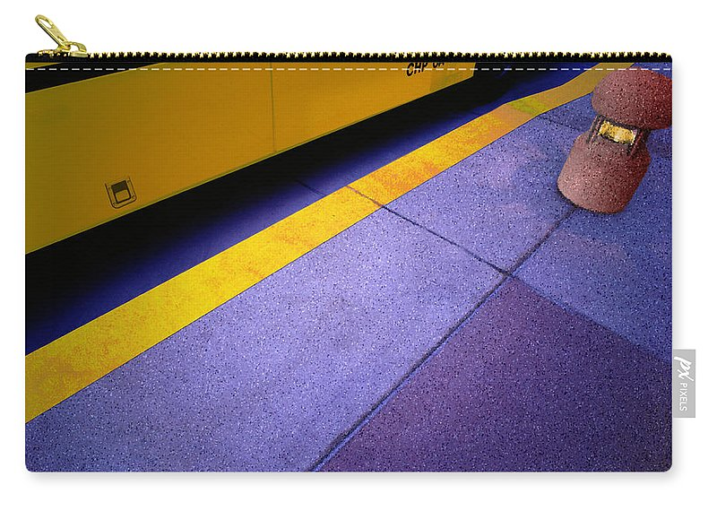 Bus Stop Carry-all Pouch featuring the photograph Bus Stop by Paul Wear