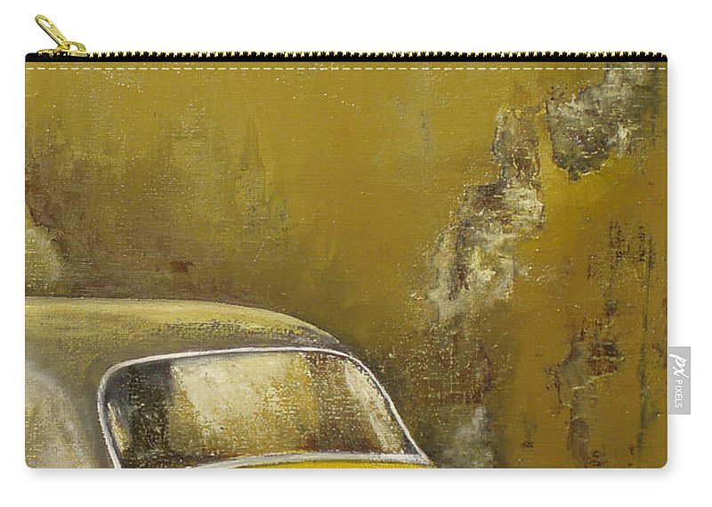 Havana Carry-all Pouch featuring the painting Buscando La Sombra by Tomas Castano