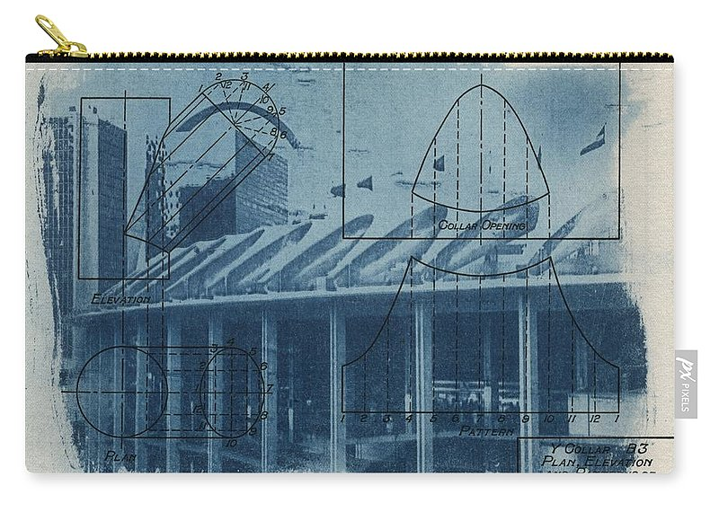 Blue Carry-all Pouch featuring the photograph Busch Stadium by Jane Linders