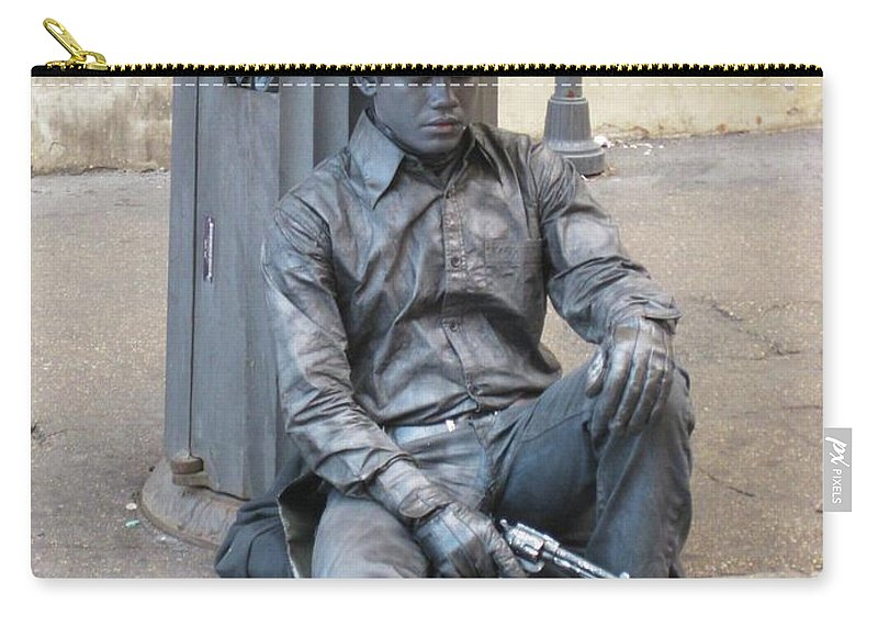 Busker Carry-all Pouch featuring the photograph Busker In Rome by John Malone