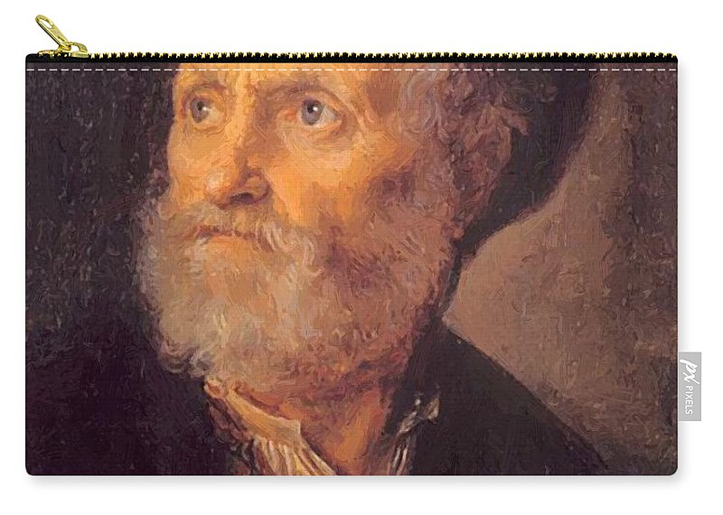 Bust Carry-all Pouch featuring the painting Bust Of A Man 1645 by Dou Gerrit