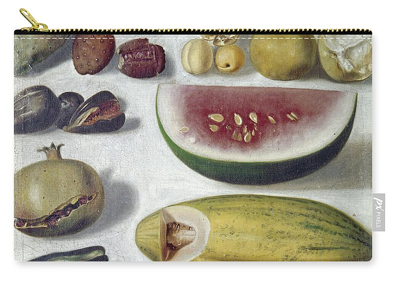 1874 Carry-all Pouch featuring the photograph Bustos: Still Life, 1874 by Granger