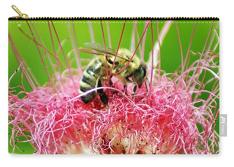 Nature Carry-all Pouch featuring the photograph Busy Bee by Holly Kempe