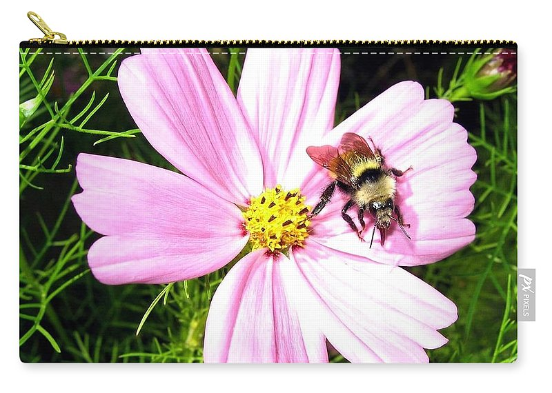 Bee Carry-all Pouch featuring the photograph Busy Bee by Will Borden