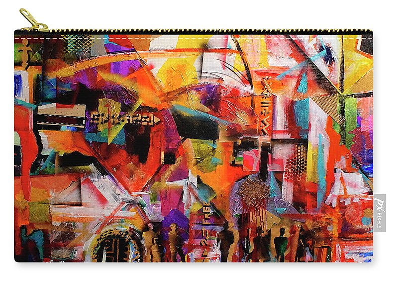 Everett Spruill Carry-all Pouch featuring the painting But still like air, we rise by Everett Spruill