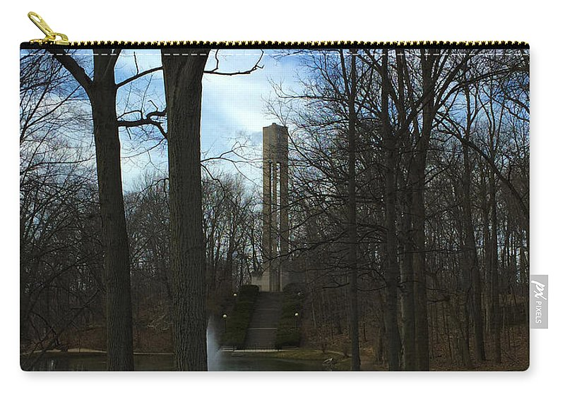 Butler University Carry-all Pouch featuring the photograph Butler University Carillon 2015 by Dan McCafferty