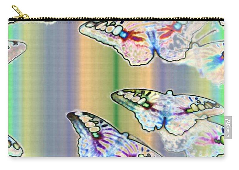 Butterflies Carry-all Pouch featuring the photograph Butterflies In The Vortex by Tim Allen