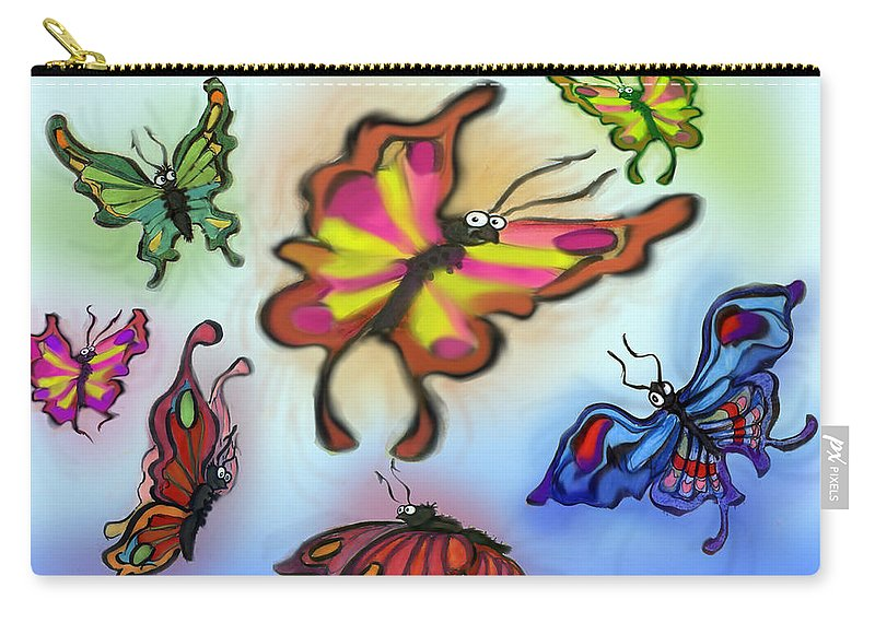 Butterfly Carry-all Pouch featuring the digital art Butterflies by Kevin Middleton