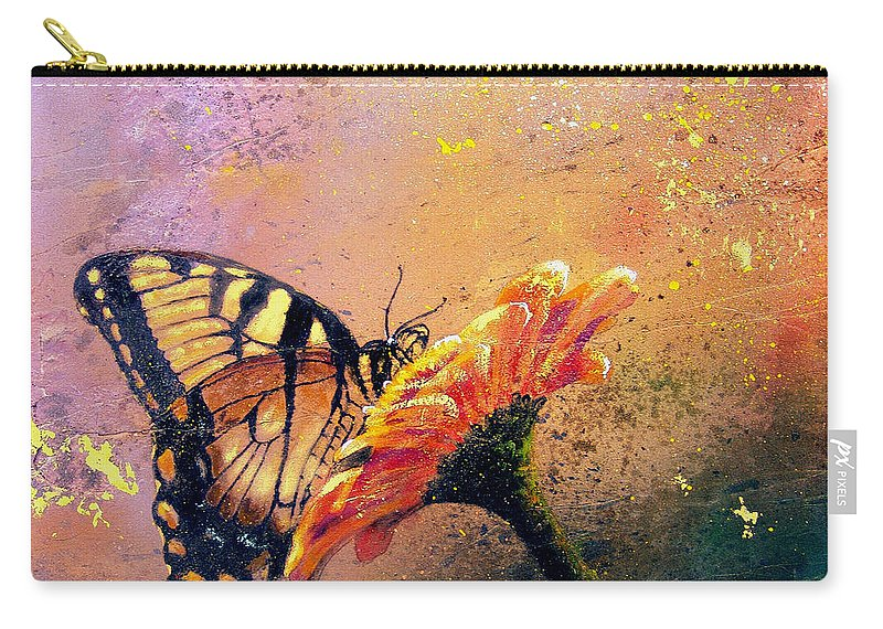 767be72ffec Nature Carry-all Pouch featuring the painting Butterfly by Andrew King
