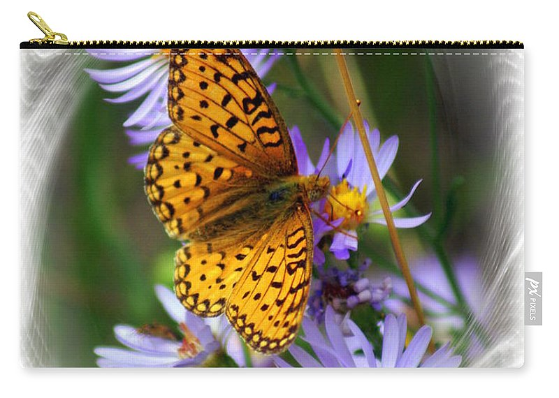 Butterfly Carry-all Pouch featuring the photograph Butterfly Bliss by Marty Koch