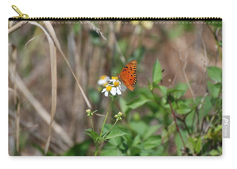 Butterfly Carry-all Pouch featuring the photograph Butterfly Flower by Rob Hans