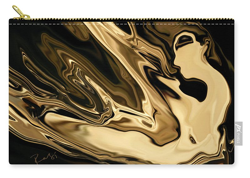 Abstract Carry-all Pouch featuring the digital art Butterfly Girl 3 by Rabi Khan