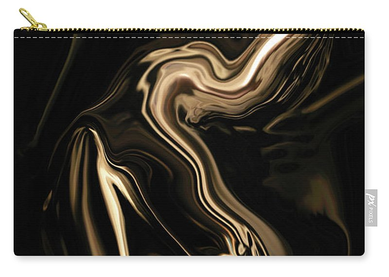 Abstract Carry-all Pouch featuring the digital art Butterfly Girl by Rabi Khan