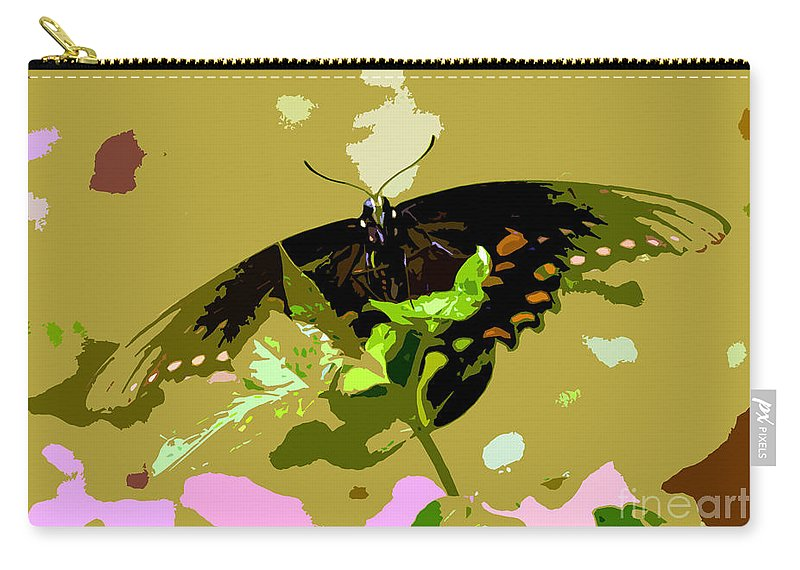Butterfly Carry-all Pouch featuring the photograph Butterfly In Color by David Lee Thompson