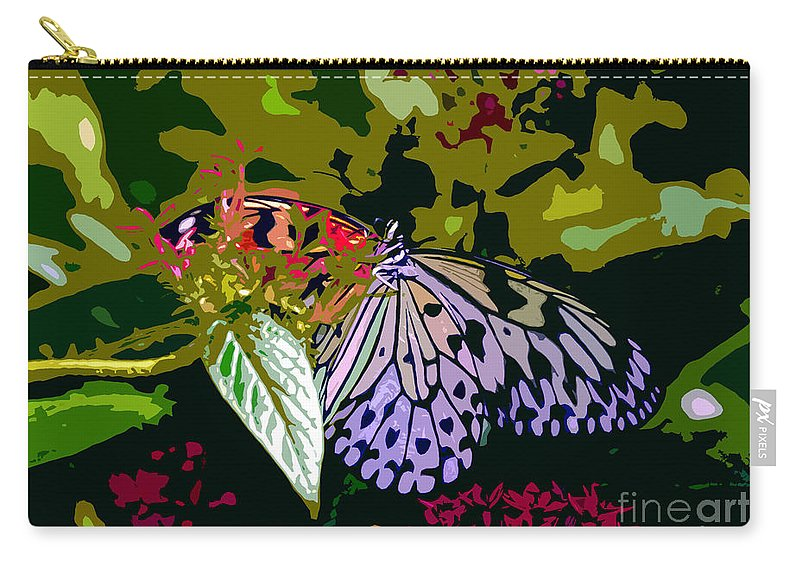 Butterfly Carry-all Pouch featuring the photograph Butterfly In Garden by David Lee Thompson