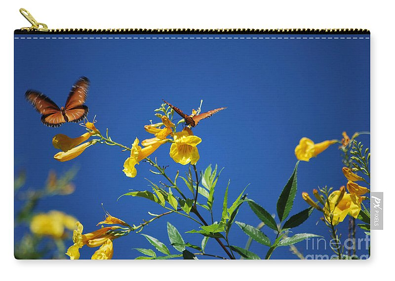 Butterfly Carry-all Pouch featuring the photograph Butterfly In The Sonoran Desert Musuem by Donna Greene