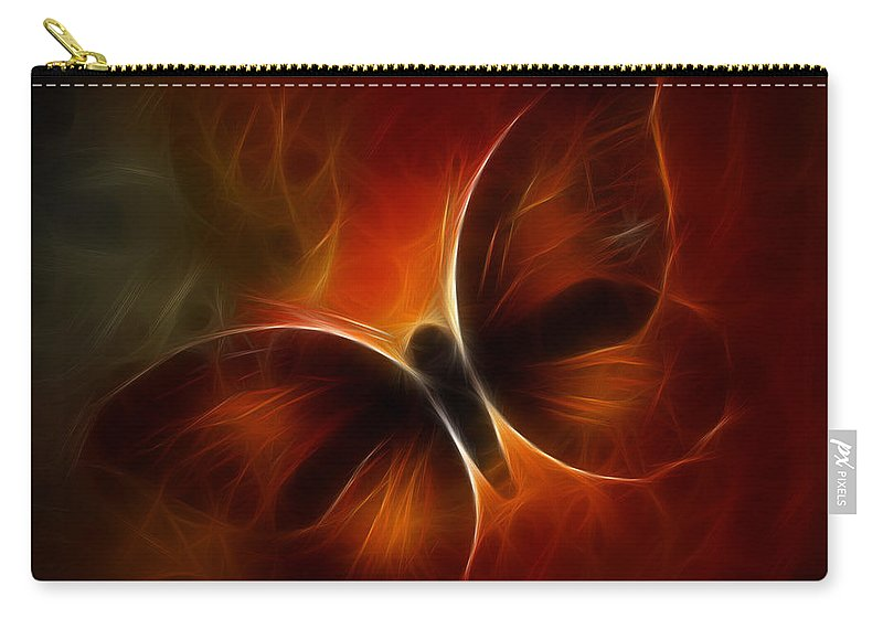 Butterfly Carry-all Pouch featuring the digital art Butterfly Kisses by Holly Ethan