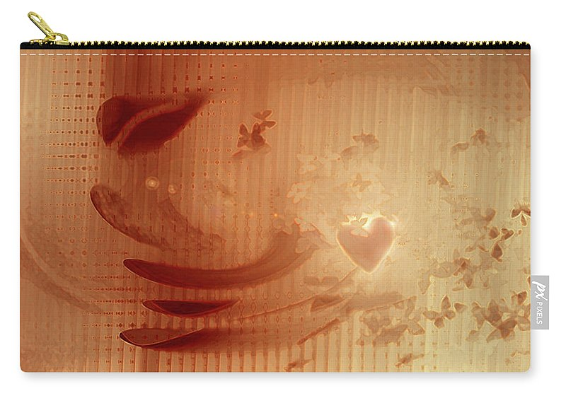 Butterfly Love Carry-all Pouch featuring the digital art Butterfly Love by Linda Sannuti