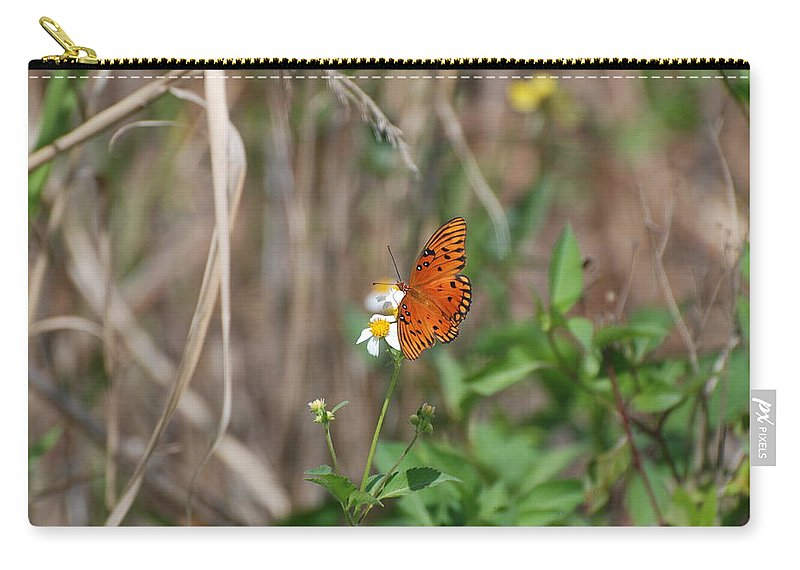 Nature Carry-all Pouch featuring the photograph Butterfly On Flower by Rob Hans