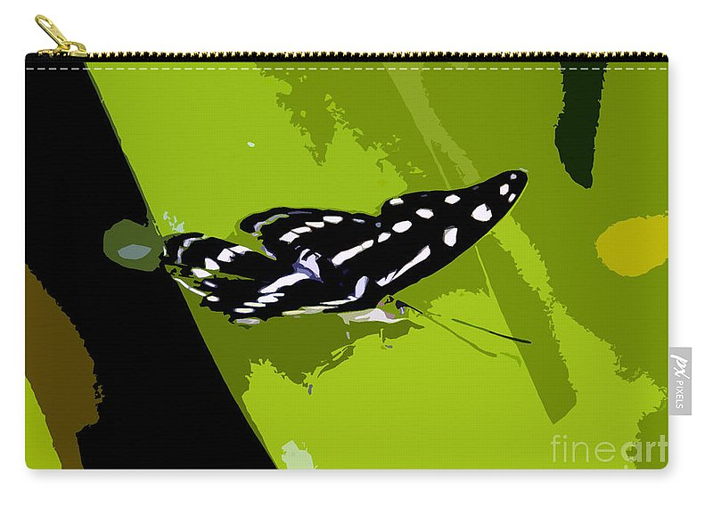 Butterfly Carry-all Pouch featuring the photograph Butterfly On Green by David Lee Thompson