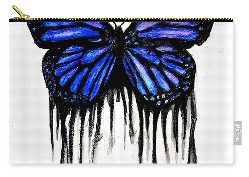 Butterly Carry-all Pouch featuring the painting Butterfly Tears by Michael Grubb