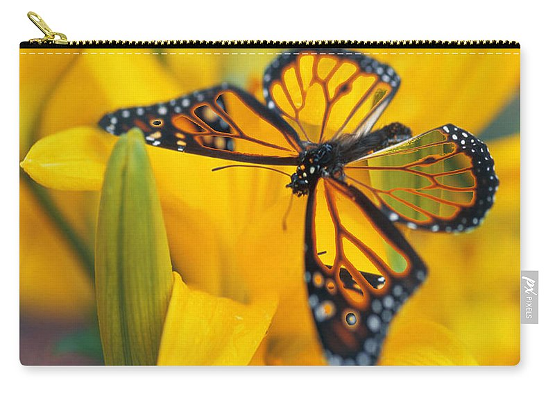 Butterfly Carry-all Pouch featuring the digital art Butterfly by Tim Allen