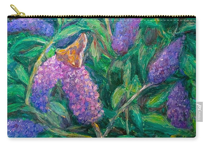 Butterfly Carry-all Pouch featuring the painting Butterfly View by Kendall Kessler