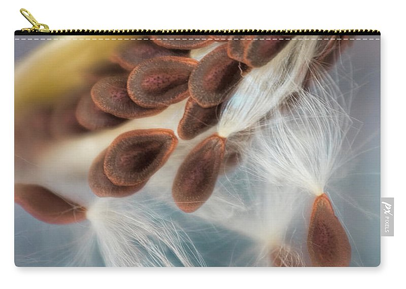 Abstract Carry-all Pouch featuring the photograph Butterfly Weed Seed Pod by David and Carol Kelly
