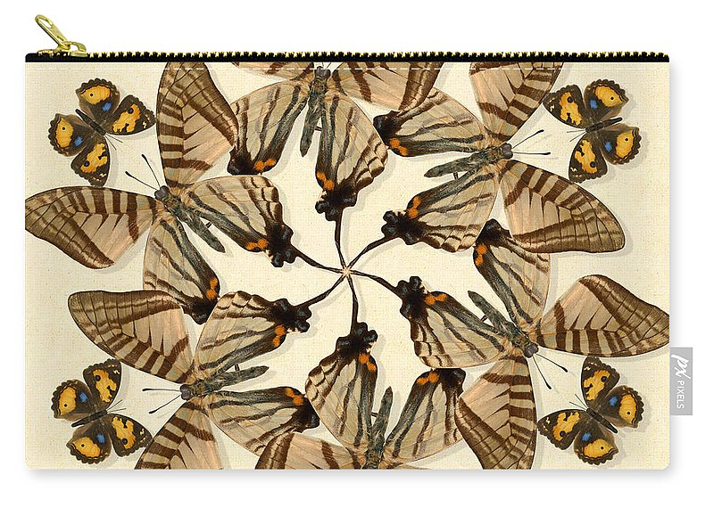 Butterfly Carry-all Pouch featuring the photograph Butterfly Wheel Dance by Melissa A Benson