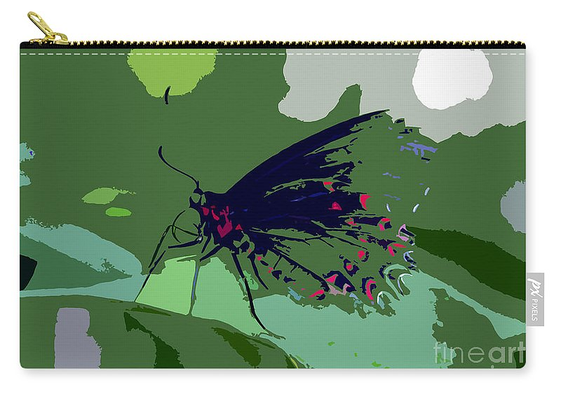 Butterfly Carry-all Pouch featuring the photograph Butterfly Work Number Ten by David Lee Thompson