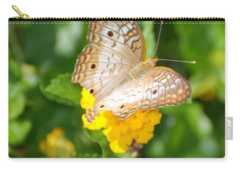 Butterfly Carry-all Pouch featuring the photograph Butterflywith Dots by Rob Hans