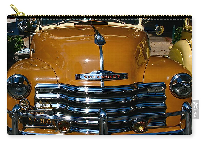 Photograph Of Chevrolet Carry-all Pouch featuring the photograph Butterscotch by Gwyn Newcombe