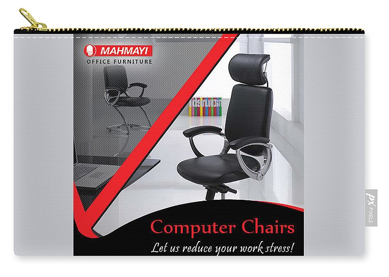 Small Office Chair Carry-all Pouch featuring the digital art Buy Best Small Office Chair Online by Mahmayi