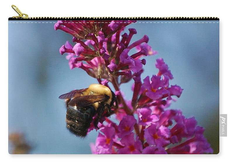 Bee Carry-all Pouch featuring the photograph Buzzed by Debbi Granruth